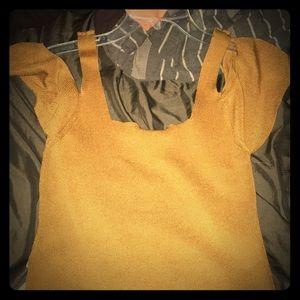 Heavy knit slight of shoulder slouching top TSnord
